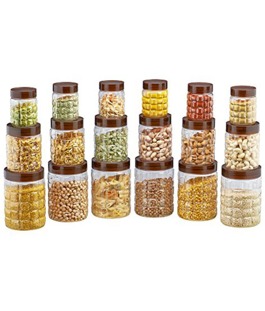 Steelo 18 pcs PET Container Set - 300ml x 6, 600ml x 6, 1200ml x 6 (Solitaire)