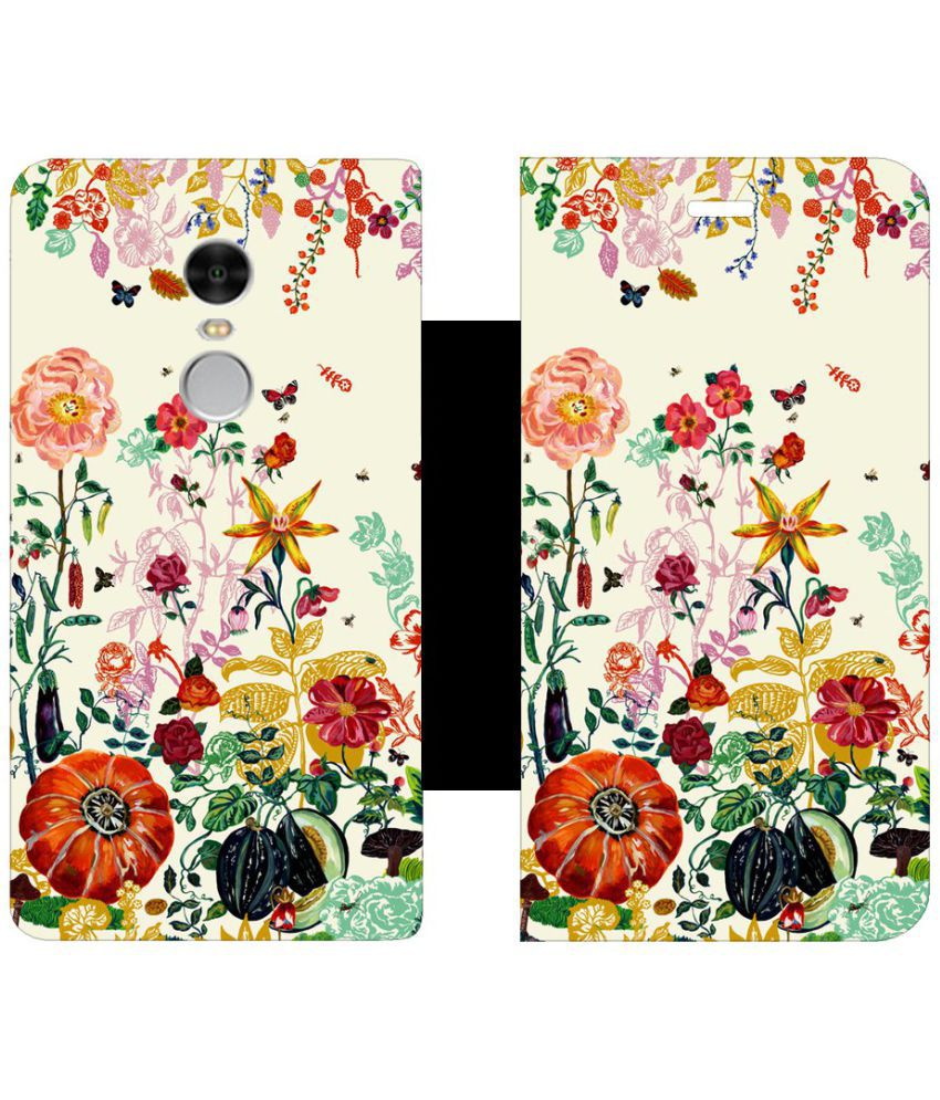 Xiaomi Redmi Note 4 Flip Cover by Skintice - White