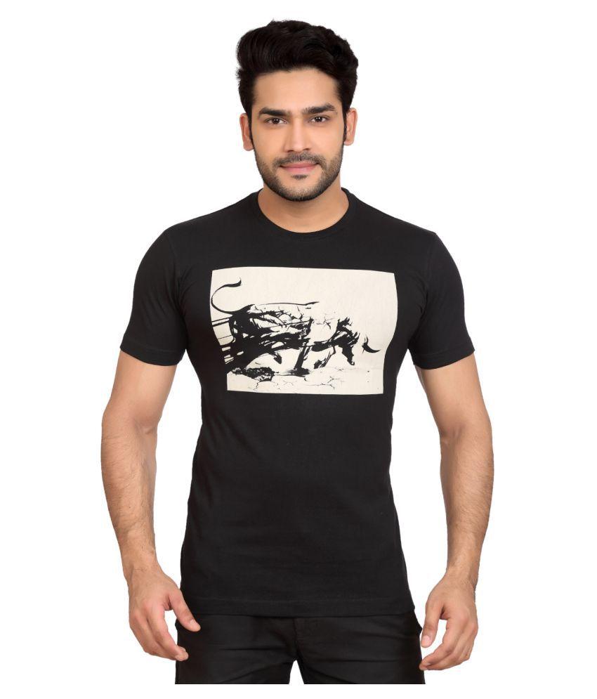 GoPlay Black Round T-Shirt