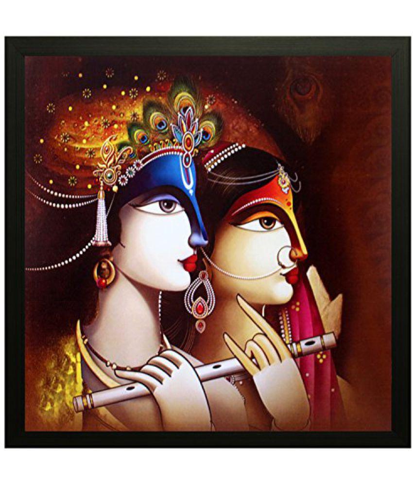 SAF Special Effect Textured Radhey Krishna Ji Painting (SANFO81, 30 cm x 3 cm x 30 cm)