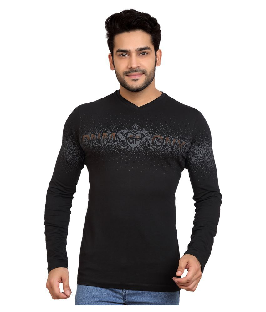 GoPlay Black V-Neck T-Shirt