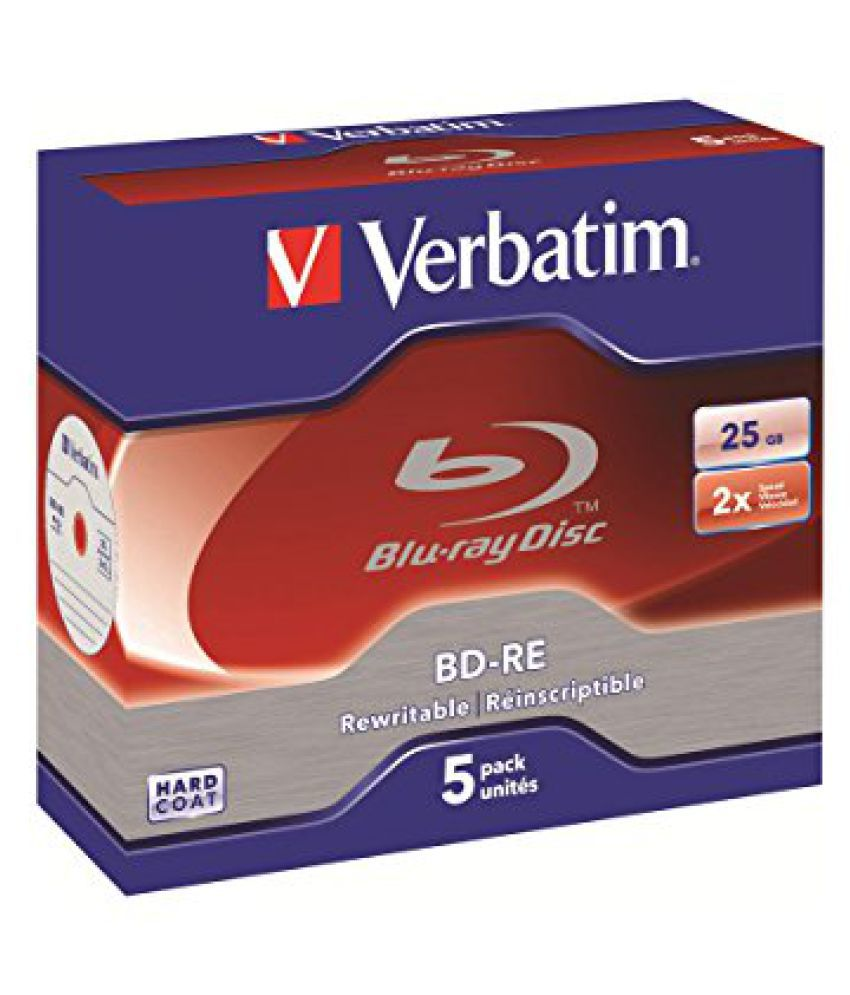 Verbatim 43615 BLU-Ray BD-RE 25GB 5Pk 2X