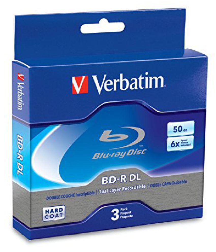 Verbatim 50 GB 6x Blu-ray Double Layer Recordable Disc BD-R DL, 3-Disc Jewel Case 97237