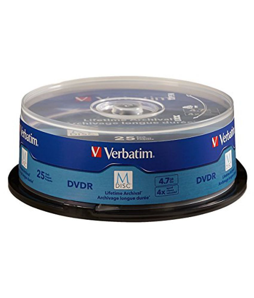 Verbatim M-Disc DVDR 4.7 GB 4X with Branded Surface - 25 Pack Spindle 98908