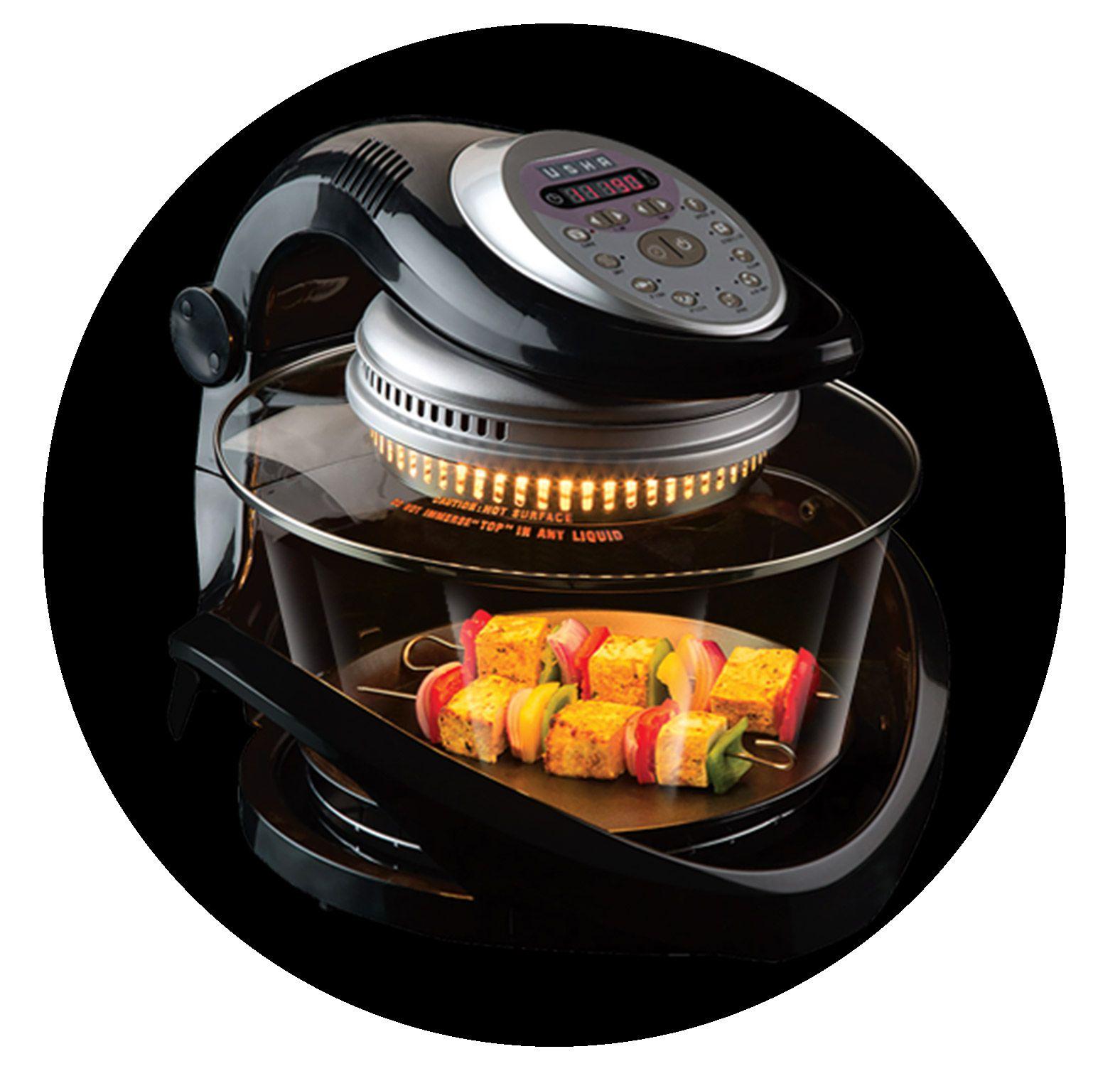 Usha 3514i 1300-Watt Infiniti Cook Halogen Oven (Transparent Glass)