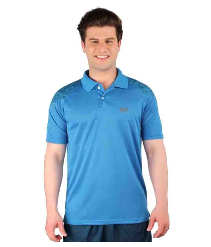 Vector X Solid Men's Polo Neck Light Blue T-Shirt