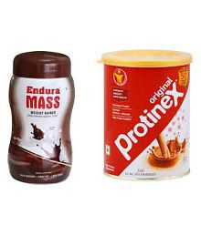 Endura Mass Chocolet 500 G And Protinex Chocolet 400 G 500 Gm Chocolate Weight Gainer Powder Pack Of 2