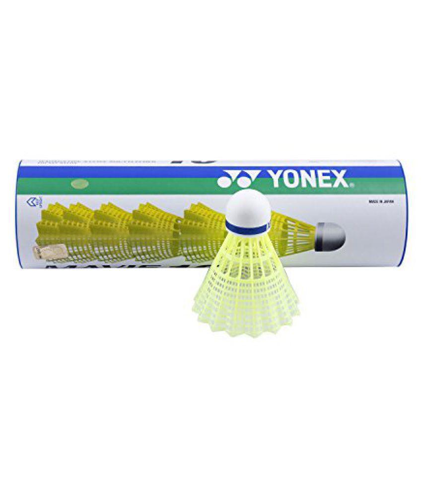 Yonex Mavis 10 Blue Cap Nylon Shuttlecock (Yellow)
