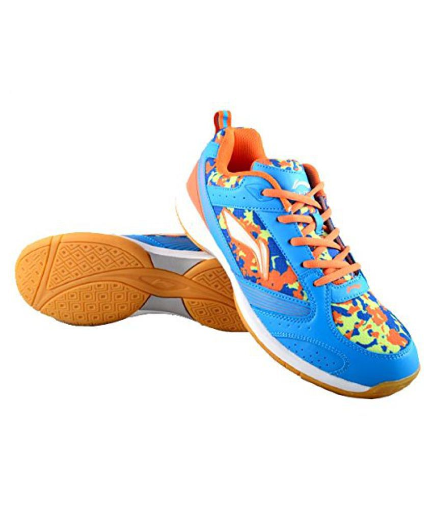 Li-Ning CamoStar (AYTK111-3)Badminton shoe -11Uk(Blue/Orange)
