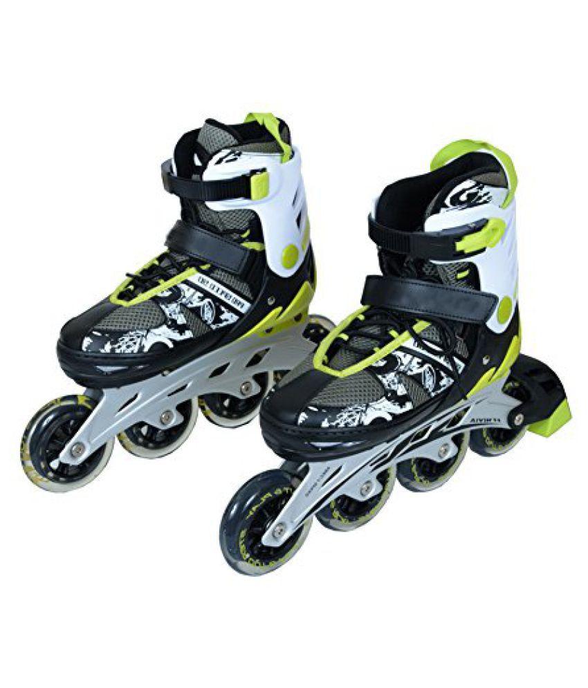 NIVIA Synthetic-Fiber Skates (Black and Grey)