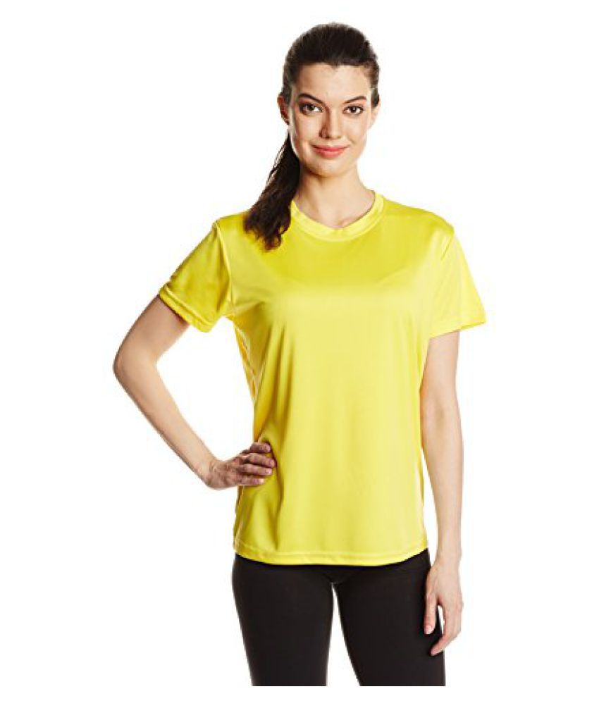 Nivia Fitness Tees Womens, XXL (Lemon Yellow)