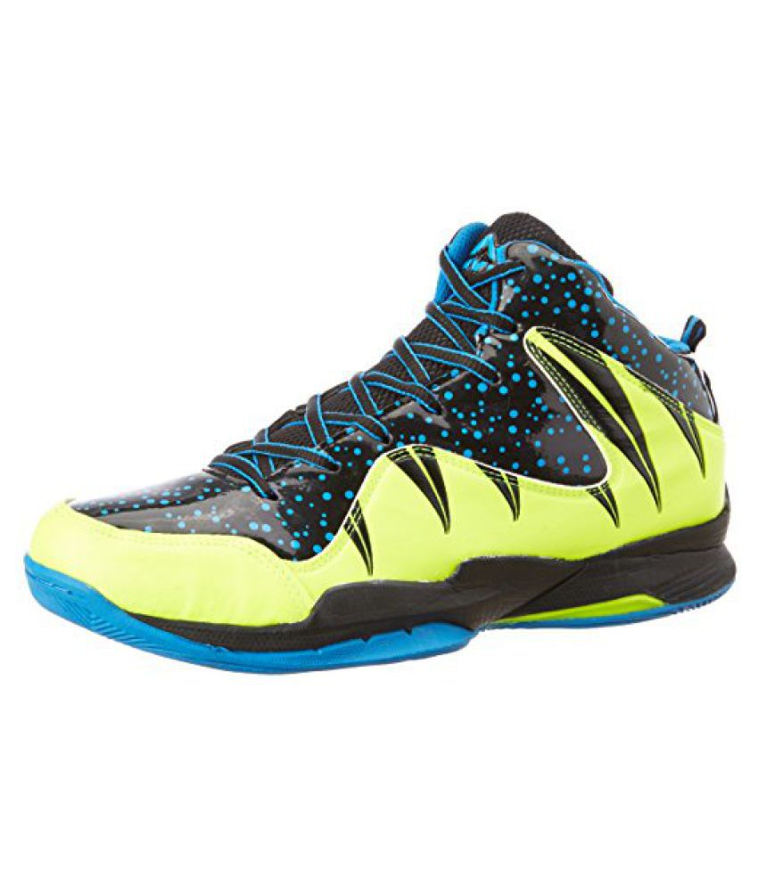 Nivia Heat Basketball Shoes, UK 6 (Black/Aster Blue)