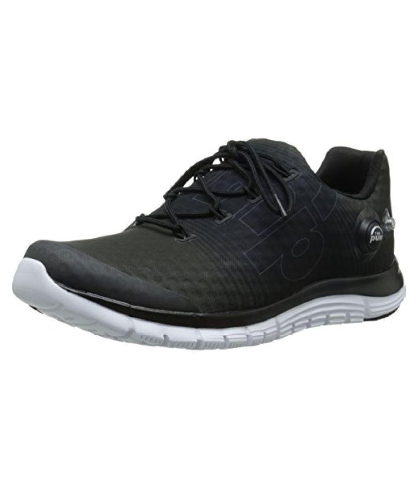 Reebok Men s Z-Pump Fusion Running Shoe Black/Flat Grey/White/Gravel 11.5 D(M) US
