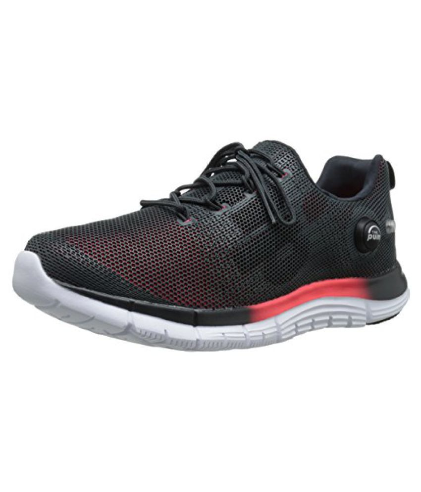 Reebok Men's ZPump Fusion Polyurethane Running Shoe Gravel/Neon Cherry/White 7.5 D(M) US