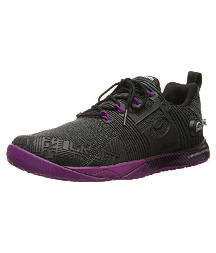 Reebok Womens Crossfit Nano Pump Fusion Training Shoe Black/Fierce Fuchsia 9.5 B(M) US