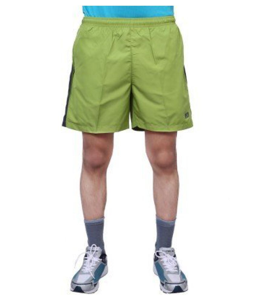 Vector X Solid Men's Light Green Sports Shorts