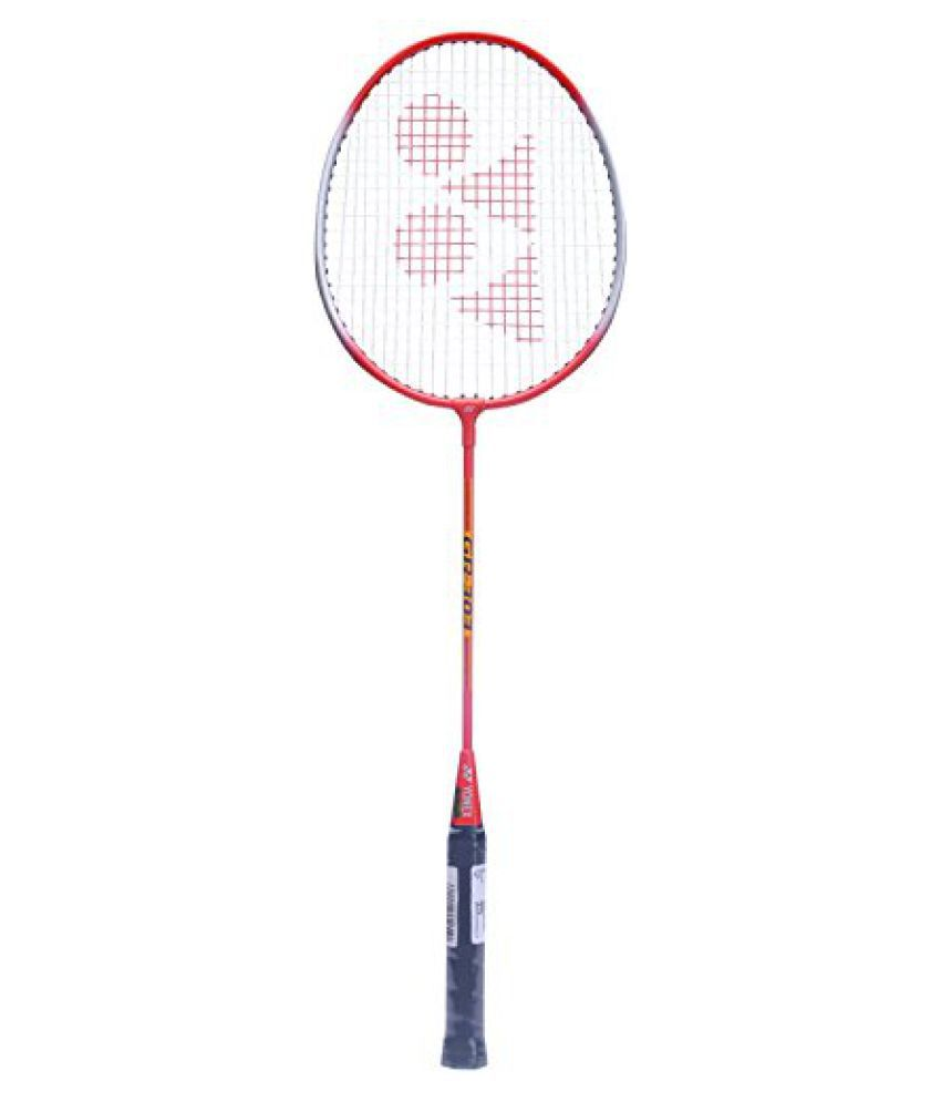Yonex GR 303 Badminton Racquet, Red (Pack of 2)