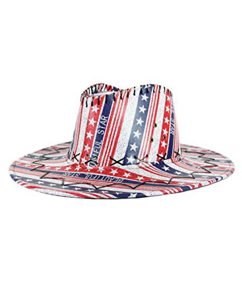FabSeasons Casual Printed Cowboy / Long Brim Hat