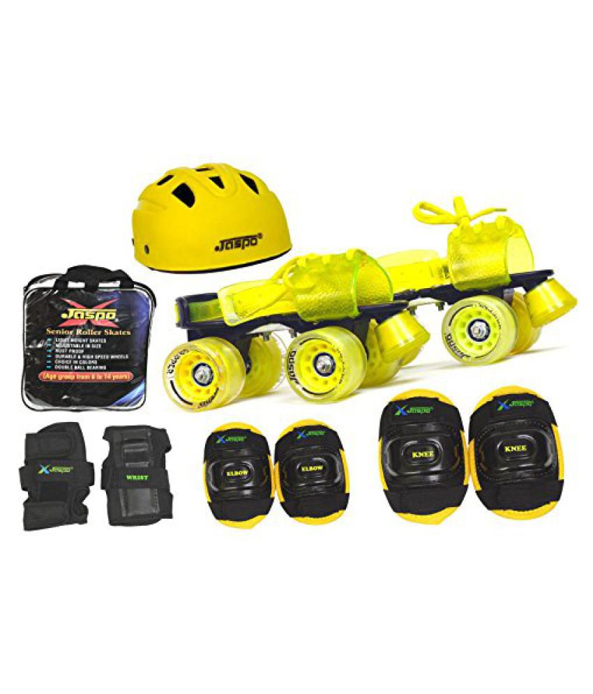 Jaspo Storm Pro Superior Senior Skates Combo (skates+helmet+knee+elbow+wrist+bag)suitable for age upto 6 to 14 years