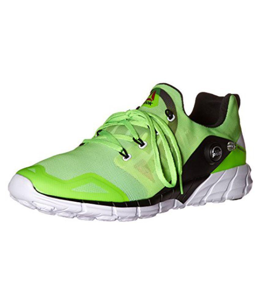 Reebok Men s Zpump Fusion 2.0 Running Shoe Solar Green/Seafoam Green/Solar Yellow/Black/White 11 D(M) US