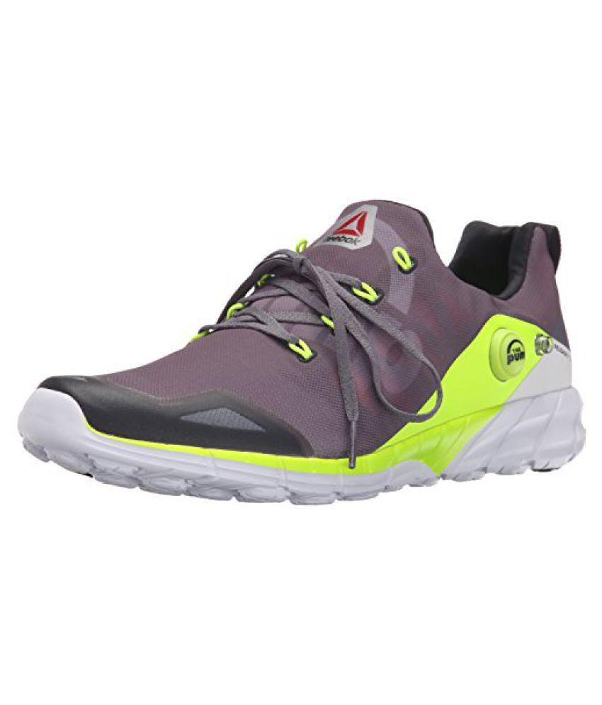 Reebok Men s Zpump Fusion 2.0 Running Shoe Alloy/Tin Grey/Solar Yellow/Coal/White 9 D(M) US