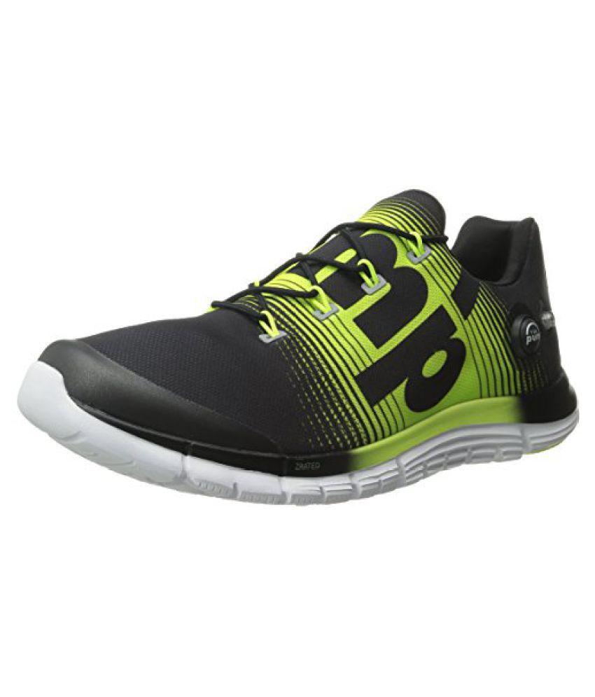Reebok Mens Z-Pump Fusion Running Shoe Black/Solar Yellow/White 10 D(M) US