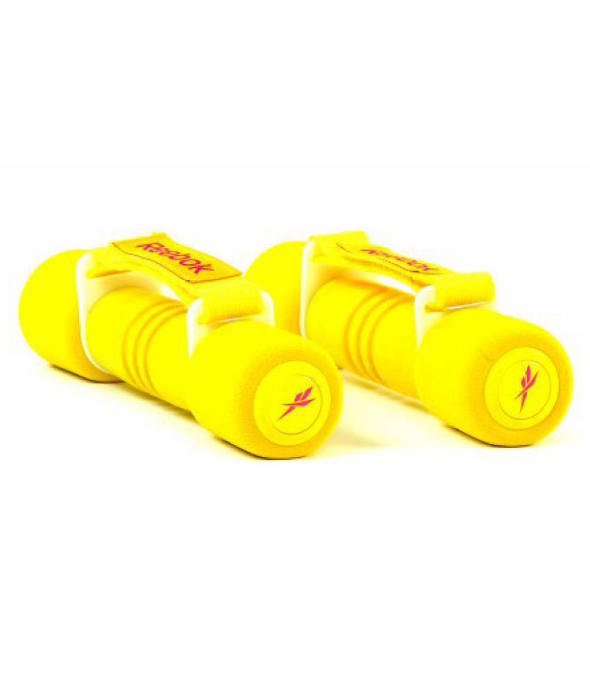 Reebok Softgrip Hand Weights - 1 Kg (Yellow)