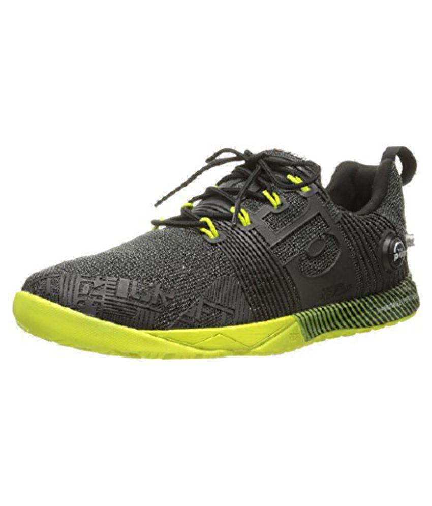 Reebok Women s Crossfit Nano Pump Fusion Cross-Training Shoe Black/Semi Solar Yellow 8 B(M) US