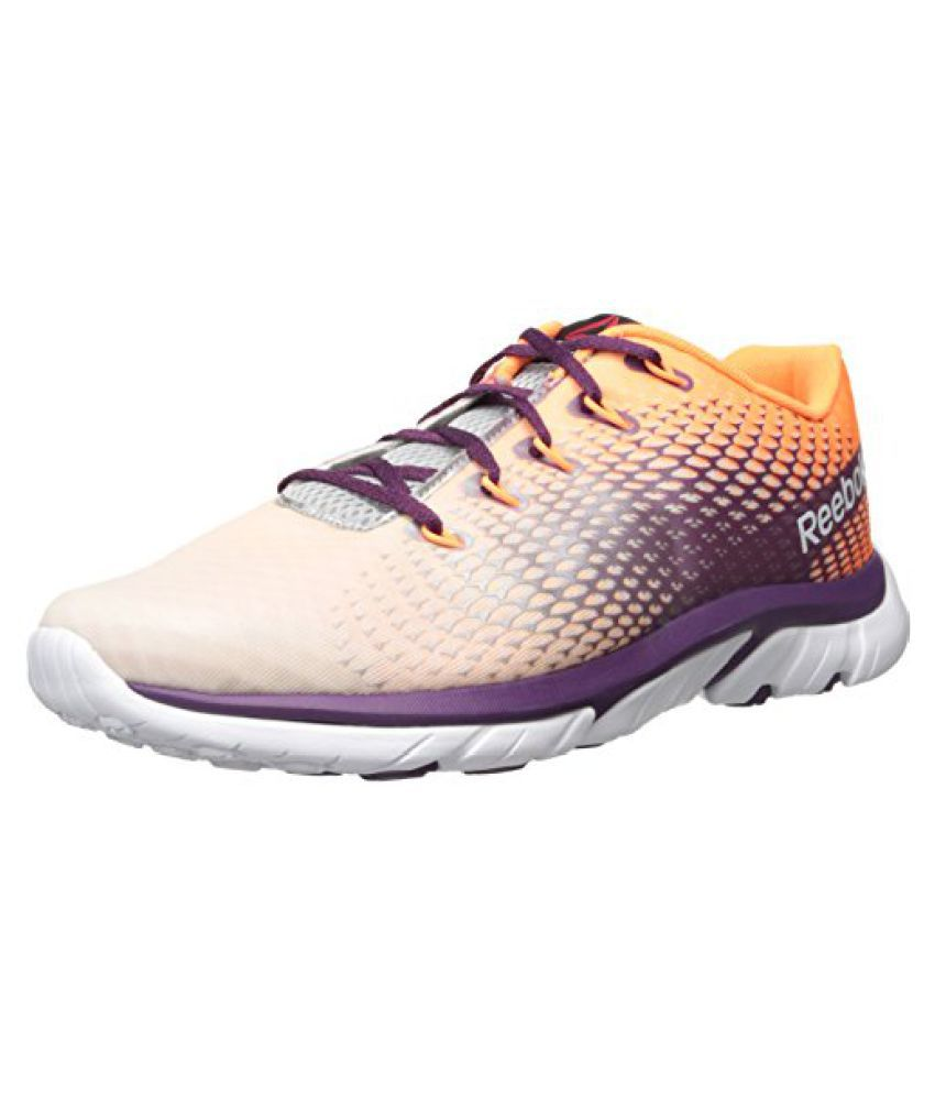 Reebok Women s Zstrike Elite Running Shoe White/Pure Silver/Steel/Electric Peach/Orchid 7.5 B(M) US