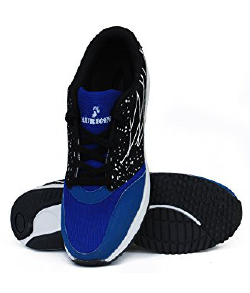 AURION Men's Blue and Black Mesh Sports & Outdoor Shoes Marathon Shoes (Blue/Black)-SIZE-7
