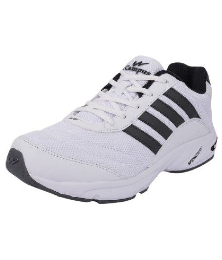 Campus Comfortable White Gray Sport Shoes by Satnam Enterprises cps378wtgray
