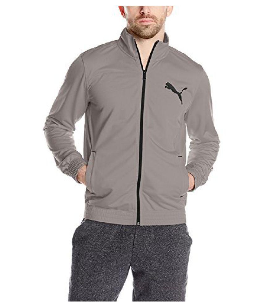PUMA Men's Contrast Front-Zip Track Jacket