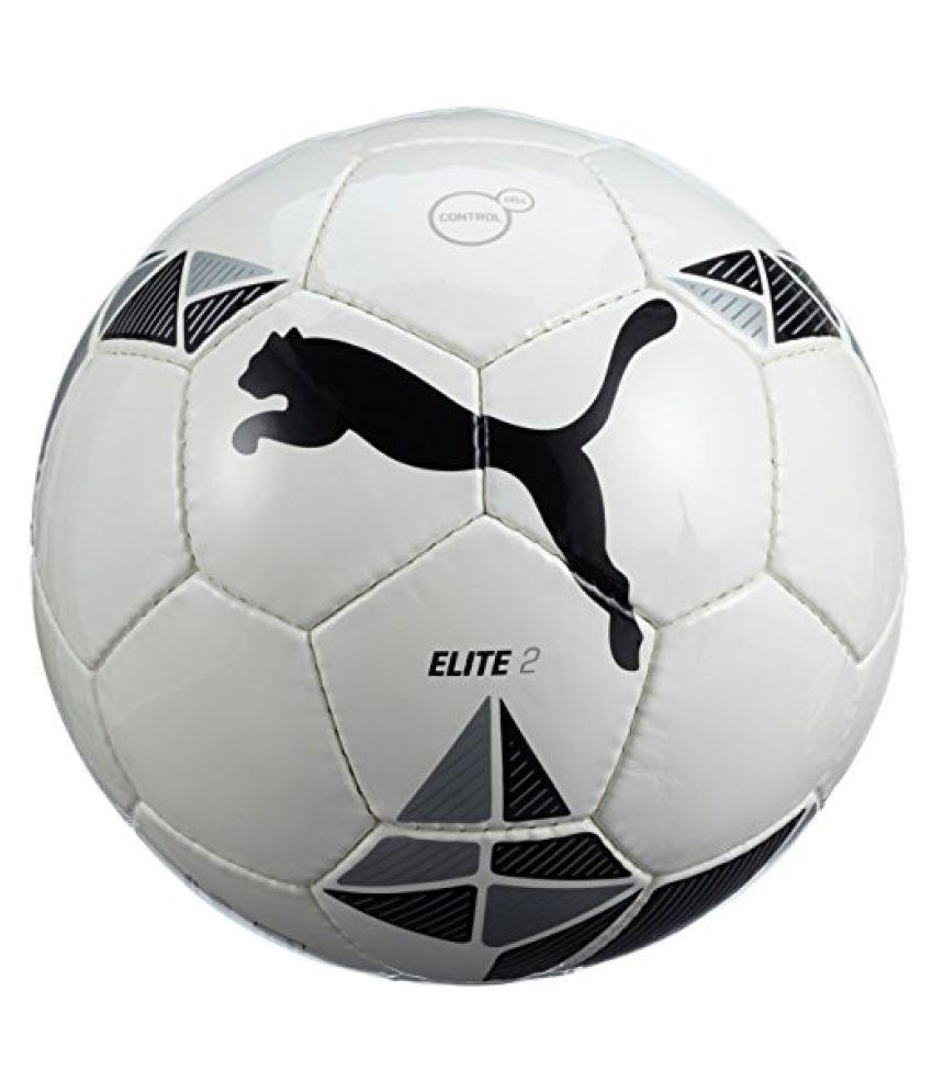 Puma Elite 2 FIFA inspected Size 5 Football (White, Black and Metallic Silver)