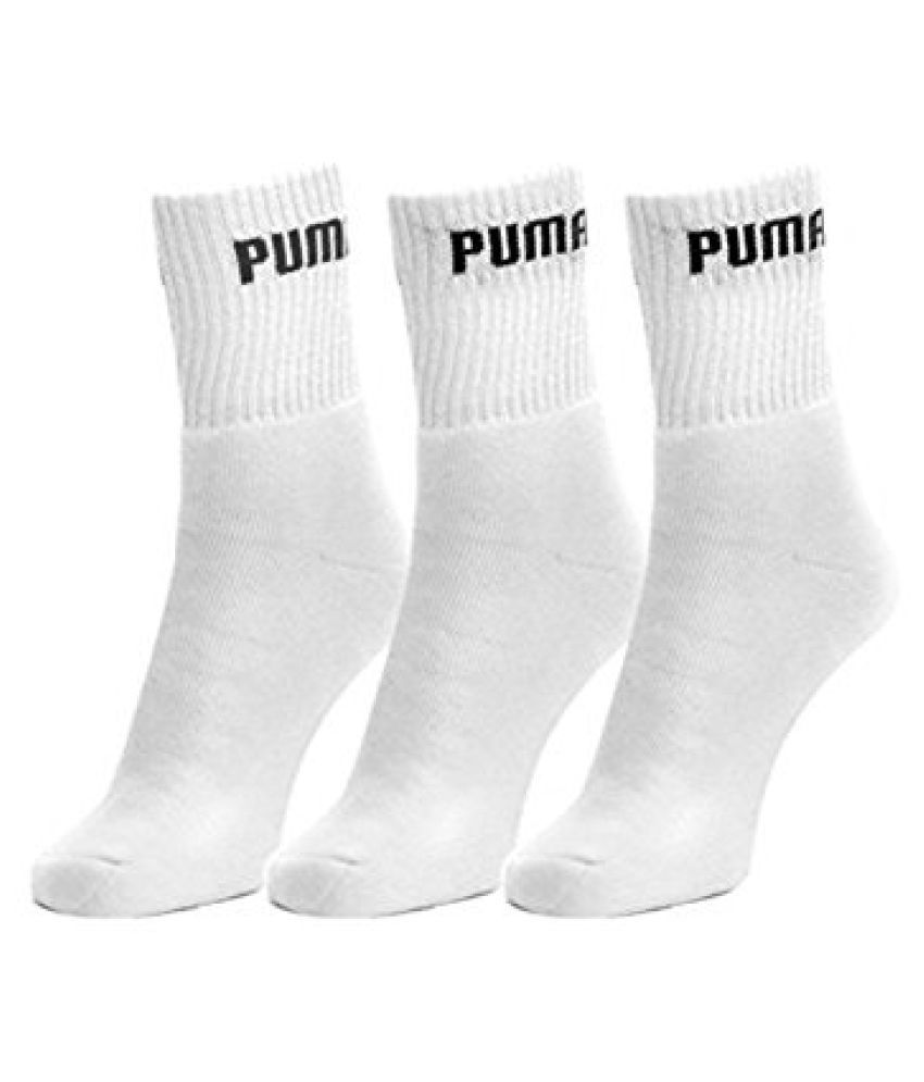 Puma Men Sports Ankle Length Socks (Set of 3) + 3 Gaurav Brand Gents Handkerchiefs Free