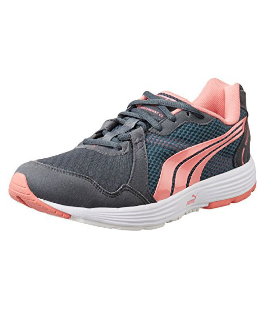 Puma Womens Descendant V2 Wn S Turbulence and Salmon Rose Running Shoes - 4 UK/India (37 EU)