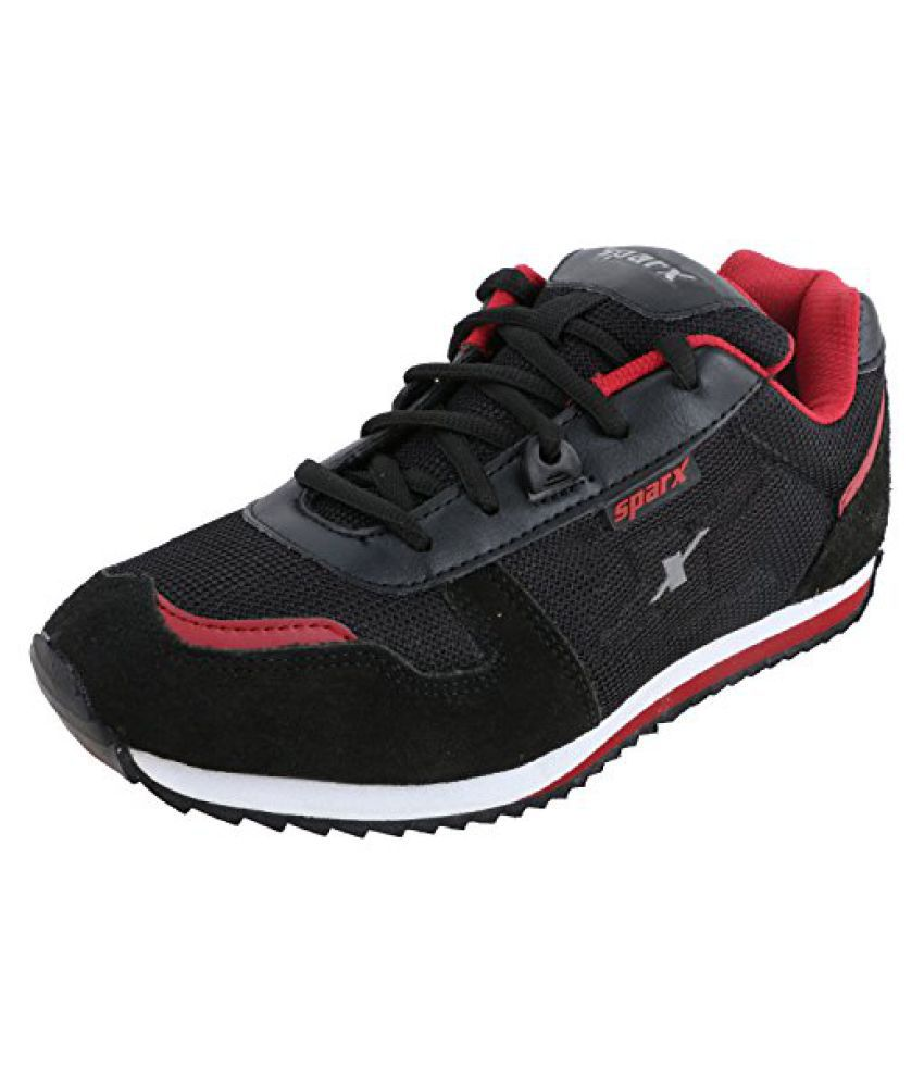 d896dcb874d Sparx Men s SM0119 Series Black Red Synthetic Leather Sports Shoes  Buy  Online at Best Price on Snapdeal