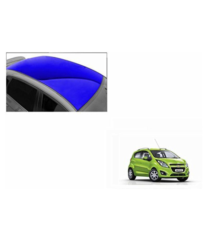Speedwav Car Roof Glossy Wrap Sheet Blue-Chevrolet Beat Type 2 (2014-2015)