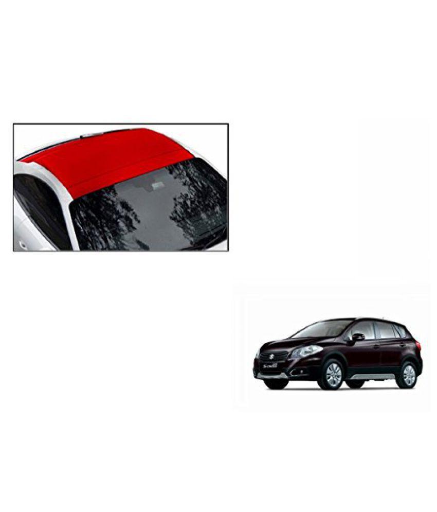 Speedwav Car Roof Wrap Sheet Matt Red-Maruti S-Cross