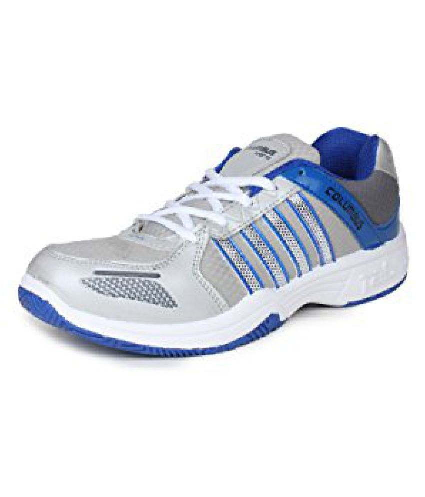 Columbus Men Grey Blue Sports Shoes