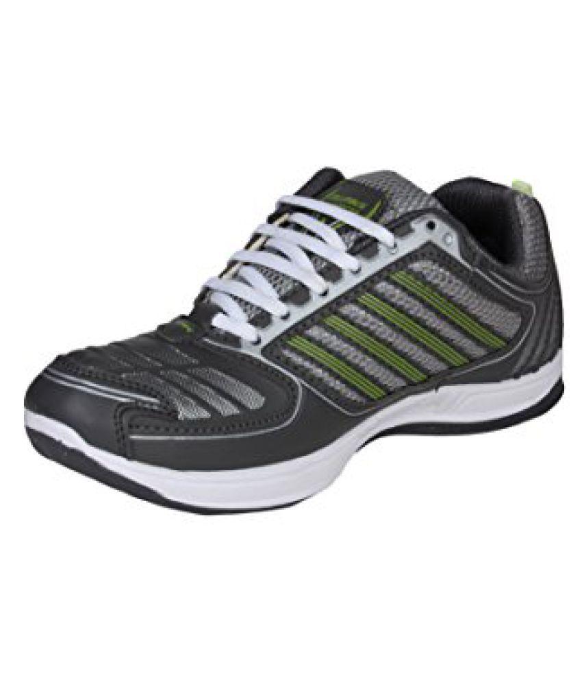 Columbus Men Grey Green Sports Shoes