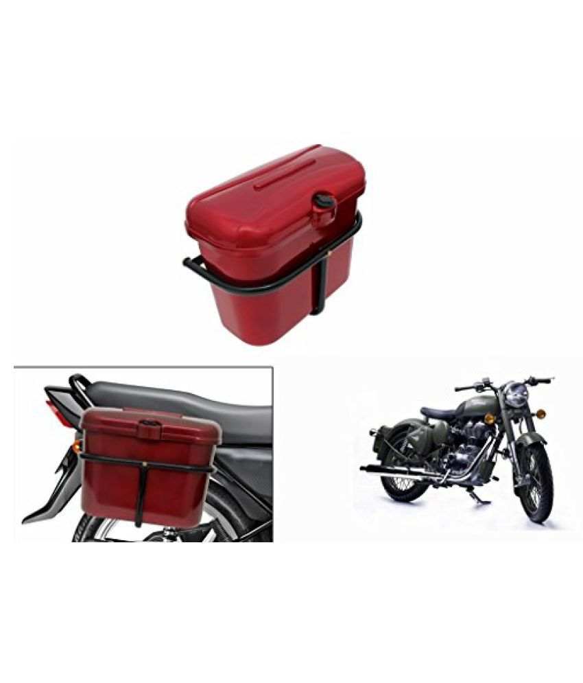 Speedwav Bike SLB-1 Side Luggage Box Red-R Enfield Battle green