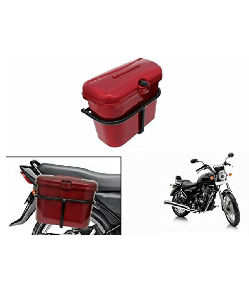 Speedwav Bike SLB-1 Side Luggage Box Red-R Enfield Thunderbird 500 Type 1