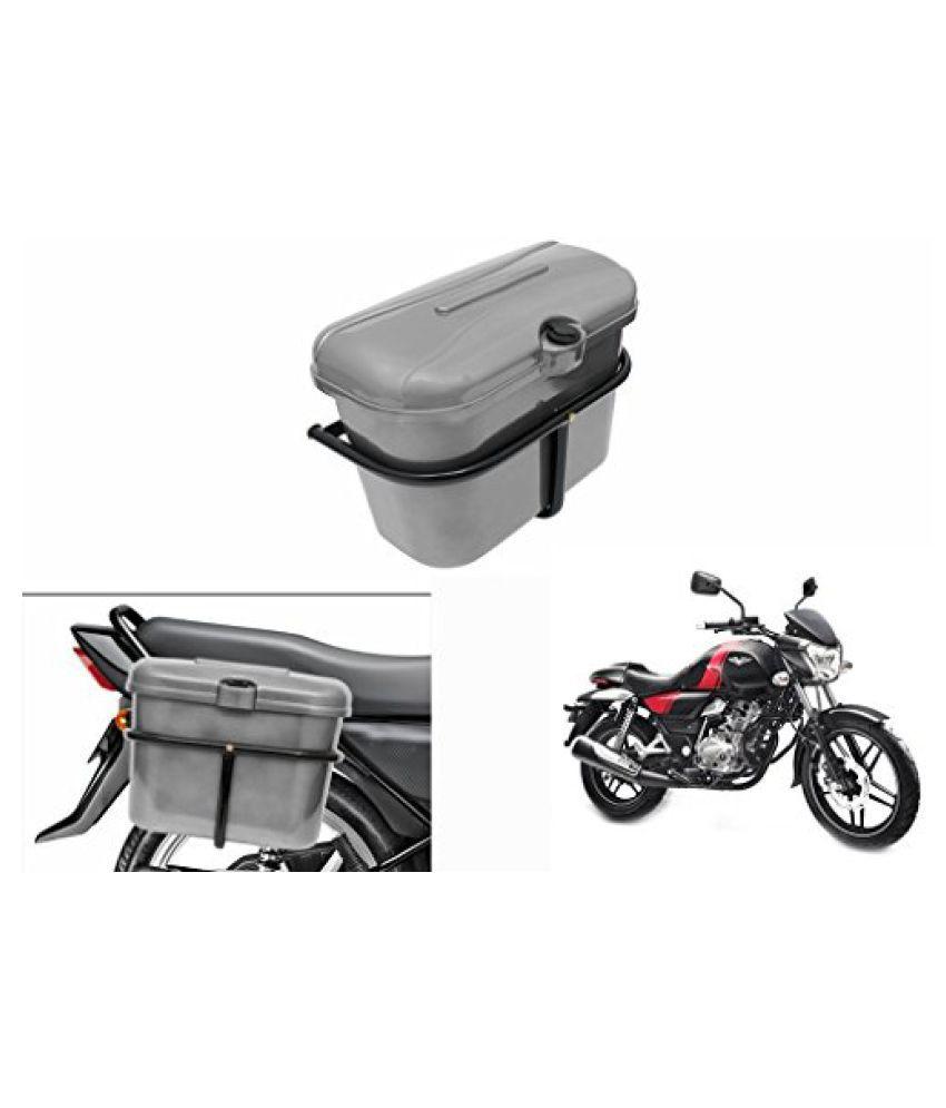 Speedwav Bike SLB-1 Side Luggage Box Silver-Bajaj V 150