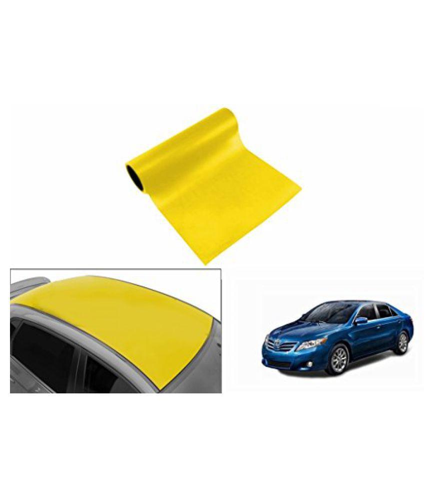 Speedwav Car Roof Glossy Wrap Sheet Neon Yellow-Toyota Camry Type 2 (2007-2011)