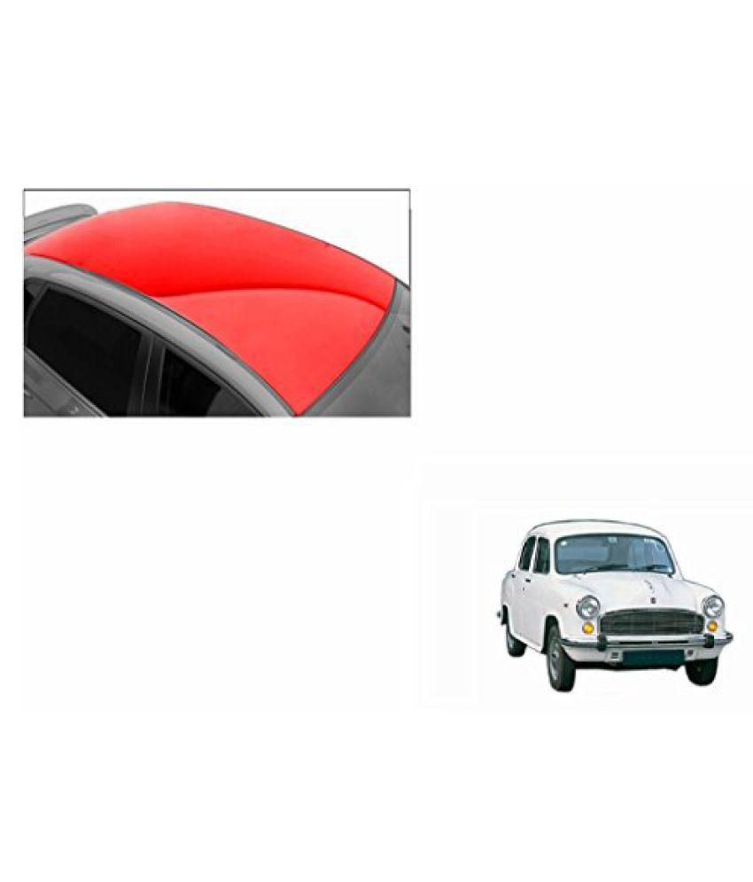 Speedwav Car Roof Glossy Wrap Sheet Red-HM Ambassador Type 1 (1995-2001)