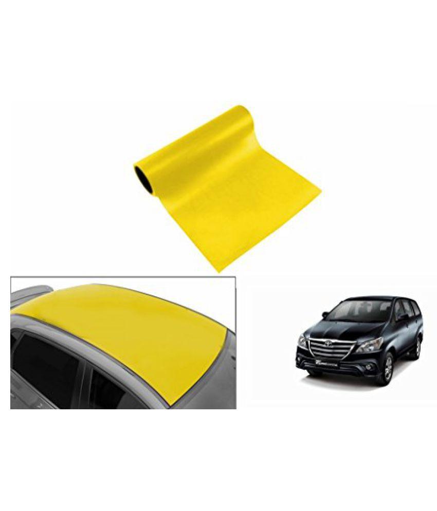 Speedwav Car Roof Glossy Wrap Sheet Neon Yellow-Toyota Innova Type 4 (2014-2015)
