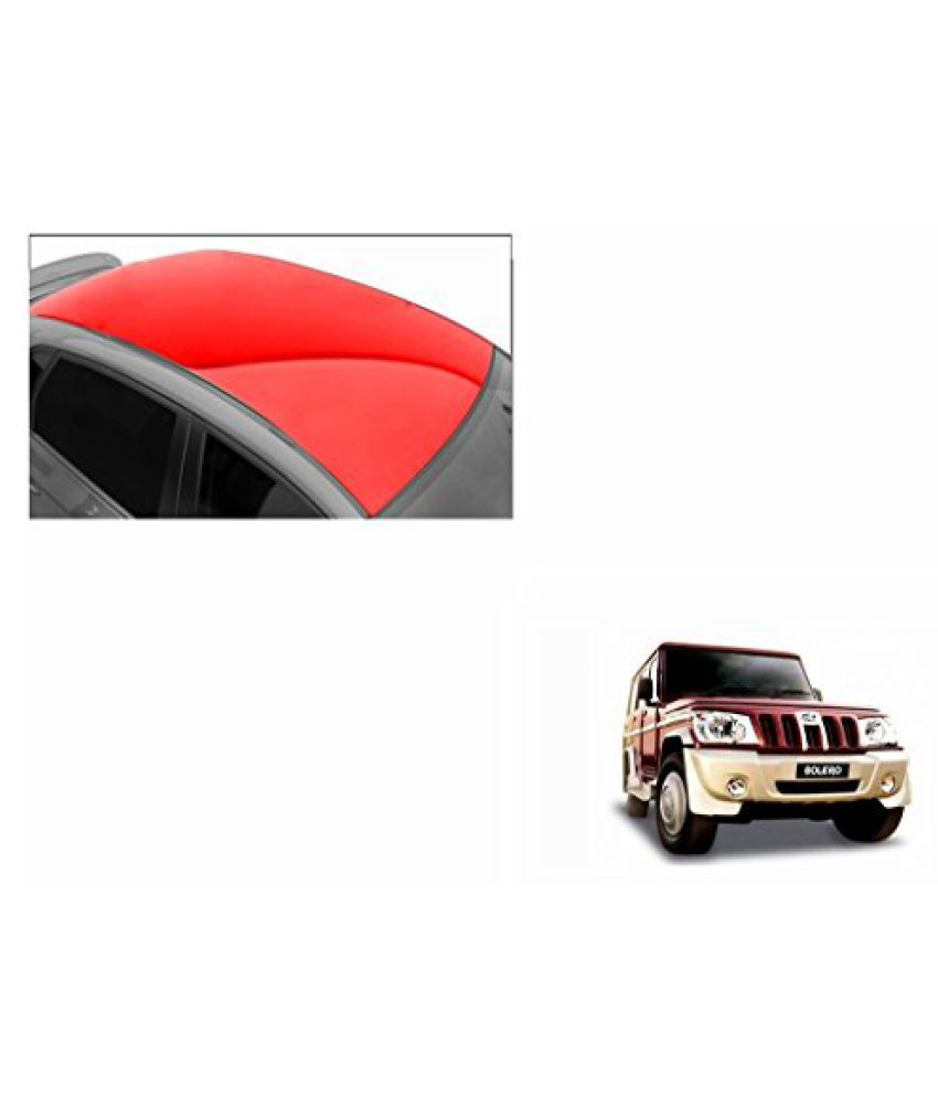 Speedwav Car Roof Glossy Wrap Sheet Red-Mahindra Bolero Type 1 (2001-2007)