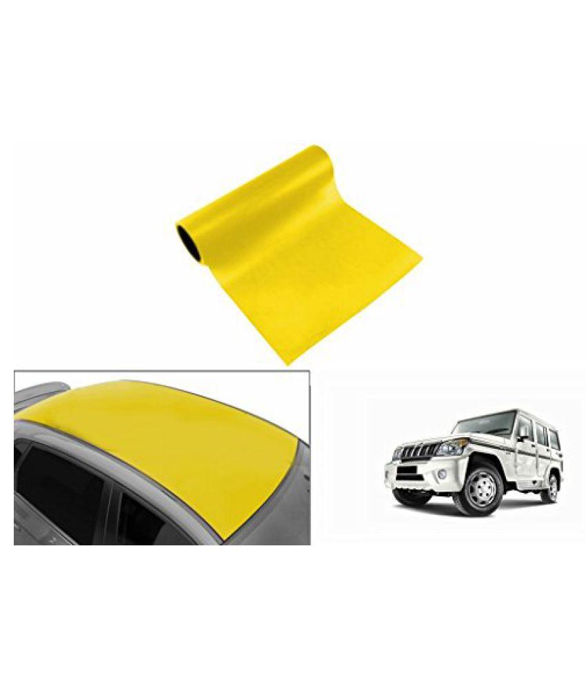 Speedwav Car Roof Glossy Wrap Sheet Neon Yellow-Mahindra Bolero Type 4 (2011-2015)