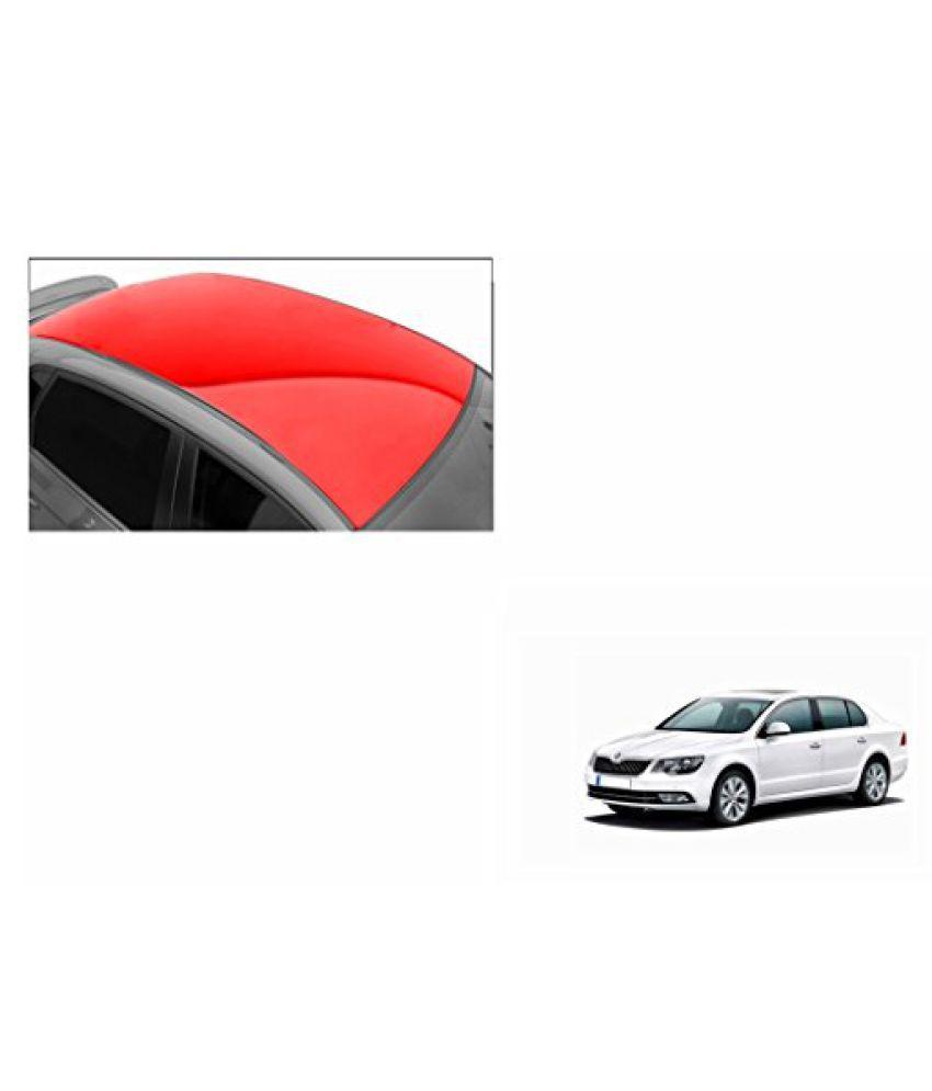 Speedwav Car Roof Glossy Wrap Sheet Red-Skoda Superb Type 2 (2012-2015)