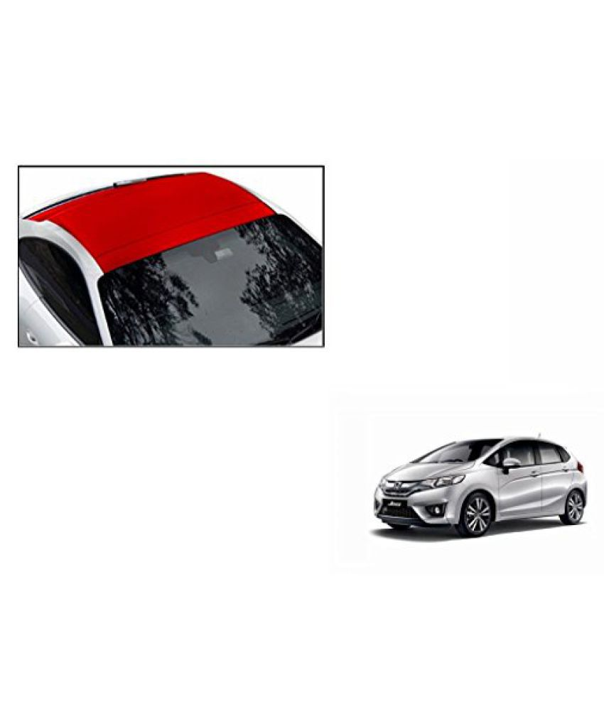 Speedwav Car Roof Wrap Sheet Matt Red-Honda Jazz Type 2 (2015-2016)